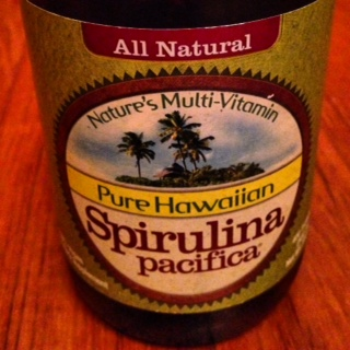 Spirulina - an awesome superfood with tons of protein packed in...lots of great nutritional benefits from this stuff